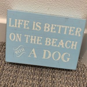 Beachy Wooden sign 🌊